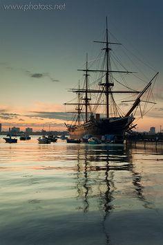HMS Warrior, Portsmouth Harbour, the first iron-clad warship built for the British Navy in 1861 | Slawek Staszczuk