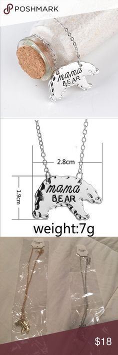 ✅JUST IN✅ Silver Tone Mama Bear Necklace New and direct from vendor. Please see pics and ask all questions prior to purchase as there are NO RETURNS!! A Dream Come True Jewelry Necklaces