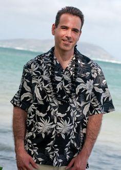 Aloha Shirts for Men   punahou black hawaiian shirt
