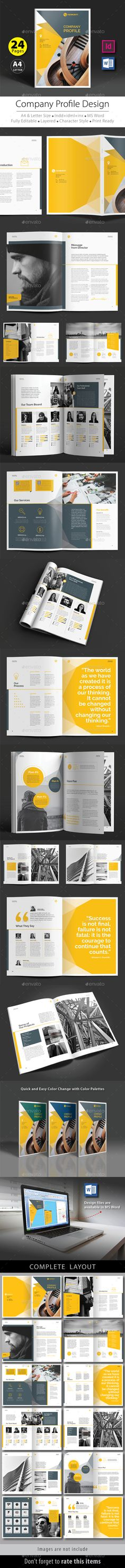 Company Profile Template InDesign INDD Inspire for work - professional business profile template