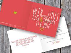 Einladungskarten - Hochzeitseinladung Herzenssache - ein Designerstück von Fraeulein-Lore bei DaWanda