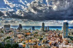 The city Tel-Aviv in Israel!! So beautiful!!