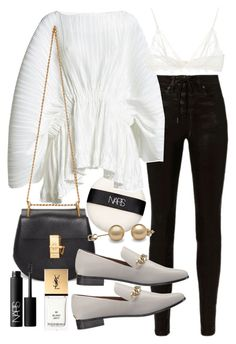 """""""Untitled #21394"""" by florencia95 ❤ liked on Polyvore featuring NARS Cosmetics, rag & bone, Romance Was Born, Chloé, Calvin Klein, Anine Bing and Yves Saint Laurent"""