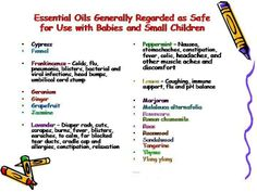 Young Living Essential Oils for Babies  Small Children