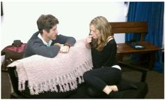 greedy rehearsal 3 Brad Raider (Louis) and Maggie Lawson (Keira) Psych Cast, Maggie Lawson, James Roday, Shag Rug, Cool Pictures, It Cast, Blanket, Shaggy Rug, Blankets