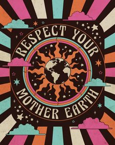 psychedelic art Respect your mother earth. With every purchase we donate of proceeds to help fight the Australian Wildfires. Bedroom Wall Collage, Photo Wall Collage, Picture Wall, Collage Art, Poster Collage, Collages, Retro Kunst, Retro Art, 60s Art