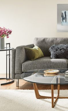 A Modern Design With Clic Details The Cade Sectional Lets You Lounge Refined