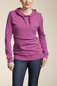 Boob Design B-Warmer Nursing Hoodie, Frozen Raspbery - Izzy's Mum Breastfeeding Clothing