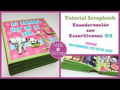TUTORIAL: #2 Encuadernación con ESCARTIVANAS (Álbum Juega Conmigo!!) - YouTube Adult Crafts, Crafts For Kids, Tutorial Scrapbook, Book Binding, Scrapbooking, Attic, Videos, Paper, Mini Albums