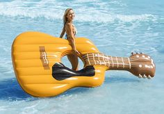 - Giant inflatable float to use in the swimming pool, lake or ocean. 9 feet long when inflated. - Heavy, durable PVC material - Can hold up to 4 adults - Easy to inflate Float Pool, Cute Pool Floats, Inflatable Float, Giant Inflatable, Swimming Pool Toys, Pool Rafts, Dream Pools, Destin Florida, Cool Pools