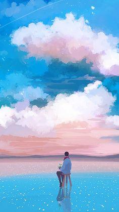 Imagen insertada Wallpaper Animes, K Wallpaper, Scenery Wallpaper, Aesthetic Art, Aesthetic Anime, Sky Art, Jolie Photo, Art Graphique, Anime Scenery