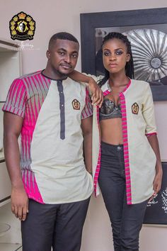 After dazzling fashion lovers with the finest winter jackets and warmers in African print (whether the weather collection) Ghanaian fashion brand EKETINO is at Couples African Outfits, Couple Outfits, African Attire, African Wear, African Women, African Shirts For Men, African Clothing For Men, African Inspired Fashion, African Print Fashion
