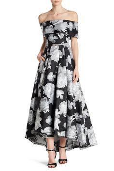 Vince Camuto Off-the-Shoulder Hi-Lo Gown Evening Dresses, Prom Dresses, Wedding Dresses, Black Tie Attire, Vince Camuto, Bridal Gowns, Off The Shoulder, Strapless Dress, Feminine