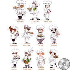Loralie's Chefs know how to bring fun to the food along with the delicious taste. Each of these culinary capers has special talents and carries their best cooked platter. This collection carries anyth