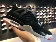 5ffcfbec50 2018 Cheap Wholesale Nike Jordan Shoes Air Jordan 4 Red Black White  308497-089-