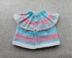 EVIE Baby or Baby Doll All-in-One Tops (marianna's lazy daisy days) Baby Cardigan Knitting Pattern Free, Knitting Stiches, Baby Hats Knitting, Baby Knitting Patterns, Baby Patterns, Cardigan Pattern, Free Knitting, Stitch Patterns, Crochet Patterns