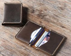 Leather Card Wallet Front Pocket Wallet Gift Ideas for by JooJoobs