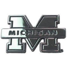 Michigan Wolverines Chrome Auto Emblem#UltimateTailgate #Fanatics