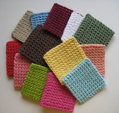 Cotton Crochet Square Facial Scrubbies