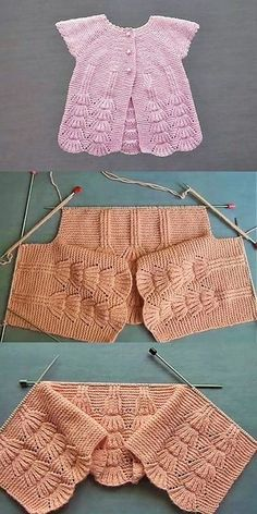 Here are some easy crocheting ideas to try at home for beginners Free Baby Blanket Patterns, Baby Knitting Patterns, Knitting For Kids, Hand Knitting, Crochet Baby, Knit Crochet, Knitted Baby Clothes, Poncho, Baby Cardigan