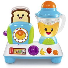 Bright Starts Giggling Gourmet Rise 'n Dine Busy Cafe ** To view further for this item, visit the image link. Toddler Toys, Kids Toys, Fisher Price Baby Toys, Toys R Us Canada, Interactive Toys, How To Make Breakfast, Breakfast Time, Jouer, Baby Registry