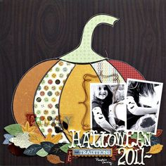 Acorn Hollow Halloween Layout featuring Corrie Jones | Little Yellow Bicycle