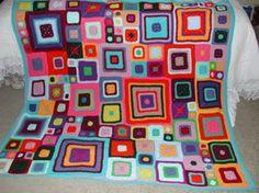 Mondrian Afghan by ~RainbowWish on deviantART