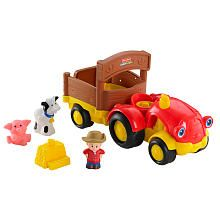 Fisher-Price Little People Lil' Movers Tow 'n Pull Tractor with Farmer Eddie Figure