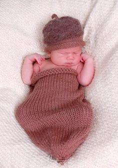 Bright Family Farm: Acorn Swaddle Sac and Cap knitting pattern