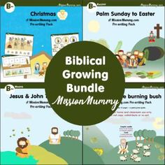 Bible Packs 'Preschool' growing bundle by MissionMummy | TpT Holy Week Activities, Daily Activities, Quick Print, File Folder Games, Palm Sunday, John The Baptist, Activity Sheets, Teaching Materials, Teacher Newsletter