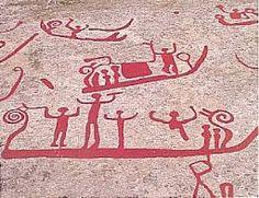 Skibe, dansere? Paleolithic Art, Pagan Symbols, Art Ancien, Viking Age, Medieval, Bronze Age, Ancient Civilizations, Ancient Art, Rock Art