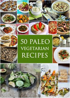 50 Veggie Paleo Recipes paleozonerecipes.com #paleo #recipes #glutenfree