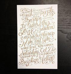 Kyle Marks Design - Blog - Script WeddingInvites