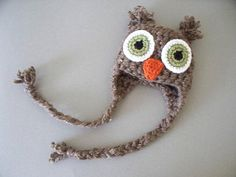Newborn Owl Hat  Photography Prop by UnderTheOakTreesKids on Etsy, $22.00