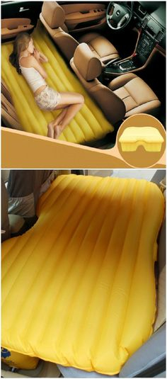 Genius Ideas and Best Home Gadgets at the36thavenue.com Car Inflatable Bed... SO CLEVER!