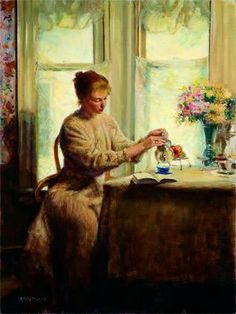 'Afternoon Tea' by Clement Micarelli (1929-2008)