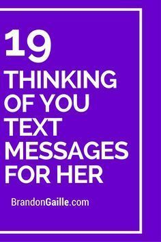 19 Thinking of You Text Messages for Her