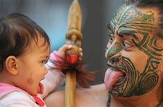 Maori Baby in training!! Share your culture, even with the littlest of the tribe