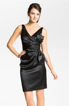 For the cruise? Maggy London Side Bow Stretch Satin Sheath Dress available at #Nordstrom