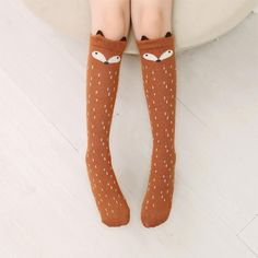 Cartoon Cute Children Socks Print Animal Cotton Baby Kids Socks Knee High Long Fox Socks For Toddler Girl Clothing Accessories Outfits Kawaii, Cute Outfits, Girls Knee High Socks, Fox Socks, Tube Socks, Sock Animals, Kids Socks, Cotton Socks, Toddler Girl Outfits