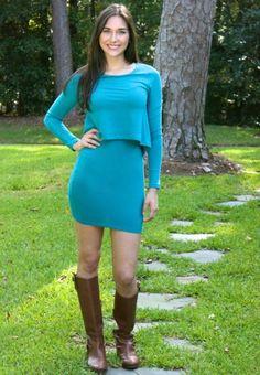Fab teal dress