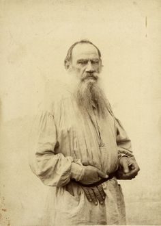 Portrait of Leo Tolstoy, Moscow, 1895. Photo by the studio of Scherer, Nabholz & Co.