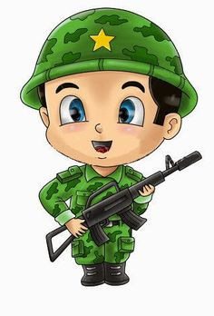 Cute Cartoon Illustration Of A Soldier Stock Photo, Picture And Royalty Free Image. Cartoon Kids, Cute Cartoon, Flashcards For Kids, Military Drawings, Coloring Pages For Boys, Banner Printing, Drawing For Kids, Cartoon Characters, Chibi