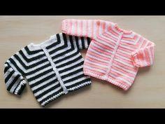 Knit Cardigan Pattern, Baby Cardigan, Crochet Cardigan, Knitting For Kids, Crochet For Kids, Baby Knitting, Crochet Crafts, Crochet Projects, Crochet Granny