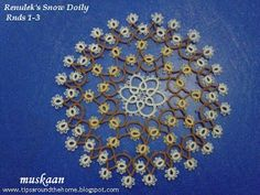 Renulek's Snow Doily in size 40 . Astral Fireworks effect in 3 colours.