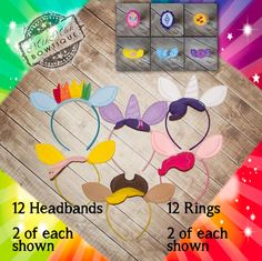 My Little Pony Inspired Rings & Headbands MLP by MikMakBowtique
