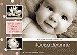 Girl Birth Announcements - Louisa Deanne