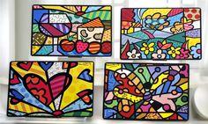 Romero Britto Paintings: Romero Britto : Romero Britto Paintings
