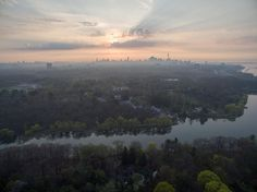 to this beautiful spring sunrise over Toronto. Toronto Photographers, Aerial Photography, Sunrise, Landscapes, River, Spring, Instagram Posts, Outdoor, Beautiful