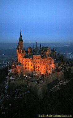 Will and I honeymoon destination  Schloss Hohenzollern (Hohenzollern Castle), 72379 Burg Hohenzollern, Germany - www.castlesandmanorhouses.com